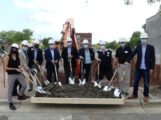 Quincy Station groundbreaking photo